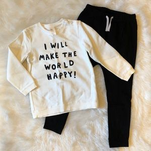 EUC 3-4T H&M I Will Make The World Happy Outfit!